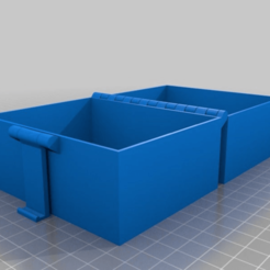 Download free 3D printer designs My Customized Buckle Box, Printable In One Piece 100*80*80, ArtesDNet
