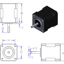 NEMA17.PNG Télécharger fichier STL Moteur NEMA 17 • Design pour imprimante 3D, 3D_Print_Custom