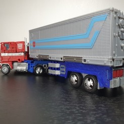 Télécharger STL Transformers Earthrise Optimus Prime Trailer Upgrade, Protoa