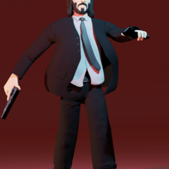 2.png Download STL file John Wick • Design to 3D print, aler8712