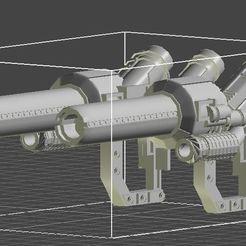 Dual Guns.JPG Download OBJ file Dual Guns for MPM 04 • 3D printing template, lonelybat1989