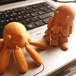 photo_2020-10-31_15-31-31.jpg Download STL file Articulated Octopus- Happy/Angry Octopus • 3D printer template, crlwaly