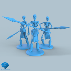 Visual_YarobatiSpearmen_01.png Download STL file Yarobati - Spearmen Pack • 3D printable object, BLUEWYVERN