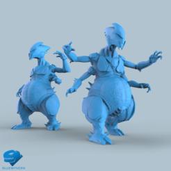 Visual_HiveAlien_01.png Download STL file Hive Warrior Pack • 3D print design, BLUEWYVERN