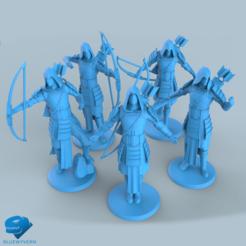 Download 3D printer model Human Samurai Ranger unit Collection, BLUEWYVERN