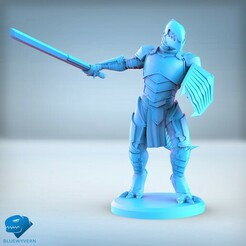 Visual_LizardmenSwordsman_01.jpg Download STL file Lizardmen - Swordsman • 3D printer model, BLUEWYVERN