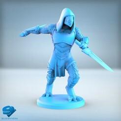 Visual_LizardmenRogue_01.jpg Download STL file Lizardmen - Rogue • 3D printing object, BLUEWYVERN
