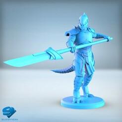 Visual_LizardmenSpearman_01.jpg Download STL file Lizardmen - Spearman • 3D printer design, BLUEWYVERN