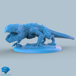 Visual_DrakePose02_02.png Download STL file Volcanic Drake - Standing on a stone floor • 3D printing template, BLUEWYVERN