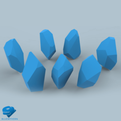 Download 3D printer model Gemstone collection, BLUEWYVERN