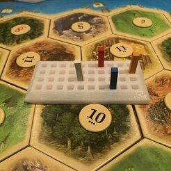 image0.jpg Download free STL file Settlers of Catan Victory Points Tracker • Object to 3D print, Nagooyen