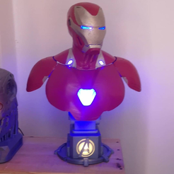 Télécharger fichier impression 3D gratuit Iron Man Mark 50 Bust REMIX, egalistel