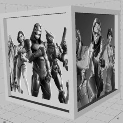 Annotation 2020-09-07 194030.jpg Download STL file Lithophanie Fortnite Cube Lamp 1 • 3D printable object, egalistel