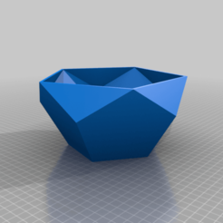 Download free STL file Polygonal flower pot, egalistel