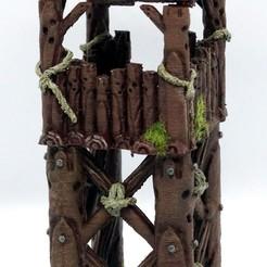 Watch Tower Wood Design 1 (1).JPG Télécharger fichier STL Tour de garde de sortie • Design pour imprimante 3D, MysticPigeonGaming