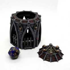 Shrine of the damned Dice Jail Mystic Pigeon Gaming (8).JPG Télécharger fichier STL Sanctuaire du terrain de table damné + dés versions prison • Objet pour impression 3D, MysticPigeonGaming
