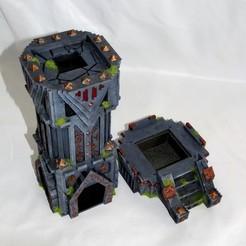 Dwarven dice tower D1 Mystic Pigeon Gaming (8)-min.JPG Descargar archivo STL Torre de dados enana / terreno de mesa D&D / Warhammer • Modelo para la impresora 3D, MysticPigeonGaming