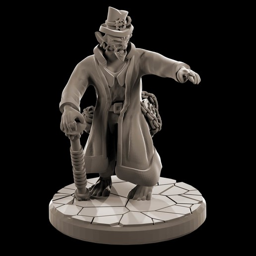Download free 3D printer designs Goblin leader in fine clothes, MysticPigeonGaming
