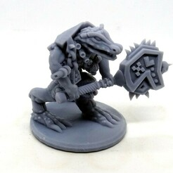 Lizardperson warrior D1 Mystic Pigeon Gaming (13).JPG Download STL file Crocodile warrior with 2 handed hammers (two weapon versions) proxy • 3D printing object, MysticPigeonGaming