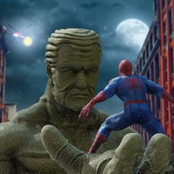 Download 3D printing models Spiderman VS Sandman, ThiagoAlbertini3D