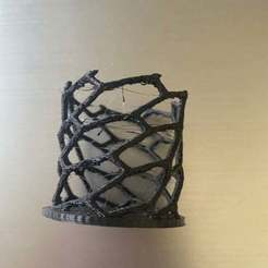 IMG_4821.jpg Download free STL file Voronoi Tealight Holder • 3D printer object, ayushvarma08
