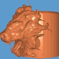 Screenshot_20200823-230304_Fast STL Viewer.jpg Download STL file Lion planter / Flower pot  • Design to 3D print, digitalisera1981