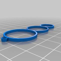 Download free 3D printing designs Triple Ringed Earring, INFX_TryHard