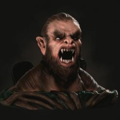 lobo1.png Download STL file werewolf • 3D print object, rhajandre