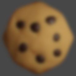 cookie lowpoly.stl Télécharger fichier STL gratuit Biscuit Chippy • Modèle pour impression 3D, waveblender