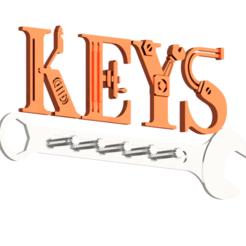 keys33.png Download STL file STEAMPUNK KEYS HOLDER • 3D printing model, TarkSteve