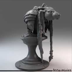 sq2.png Download free STL file The Dreaded Rat bust • 3D printing design, keta-minies