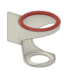 Fusion360_ItVtKqpuji.png Download free STL file Stick-on cupholder / drink holder for car interior • 3D print model, havoktheorem
