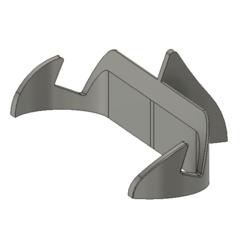 Fusion360_6LAknGQ22C.png Download free STL file Low profile phone stand • 3D printer template, havoktheorem