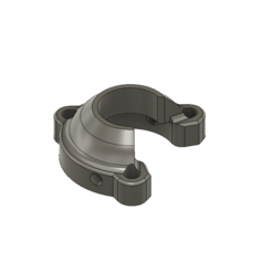 Fusion360_CNLvGO23YA.png Download free STL file E3D univeral hot end adapter clamp  • Template to 3D print, havoktheorem