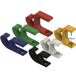 Fusion360_OZLk4pxM8G.png Download free STL file Cable Tidy Desk Clamps - 6 Different Sizes! • 3D printer model, HavokTheorem