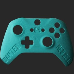 RedDeadController_3dprint.jpg Download STL file Custom Designed Red Dead Redemption Xbox Controller Faceplate • 3D printer object, PMP_Creationz