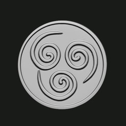 Air.JPG Download STL file Avatar The Last Airbender Coasters • 3D printing template, PMP_Creationz
