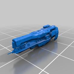 Strident_SLA_Optimized_Scale.png Télécharger fichier STL gratuit Batailles de la flotte Halo - Classe Strident • Objet imprimable en 3D, akatsukilover