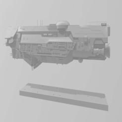 Infinity.JPG Télécharger fichier STL gratuit Batailles de la flotte Halo - Classe Infinity • Plan à imprimer en 3D, akatsukilover