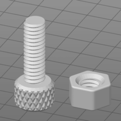 Download free 3D model Perfectly Fitting Nut and Bolt, Yatezu