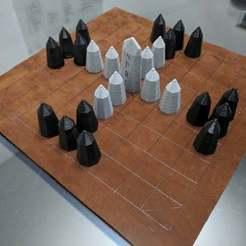 Download free SCAD file Hnefatafl Board Game Set • 3D printing design, terraprint