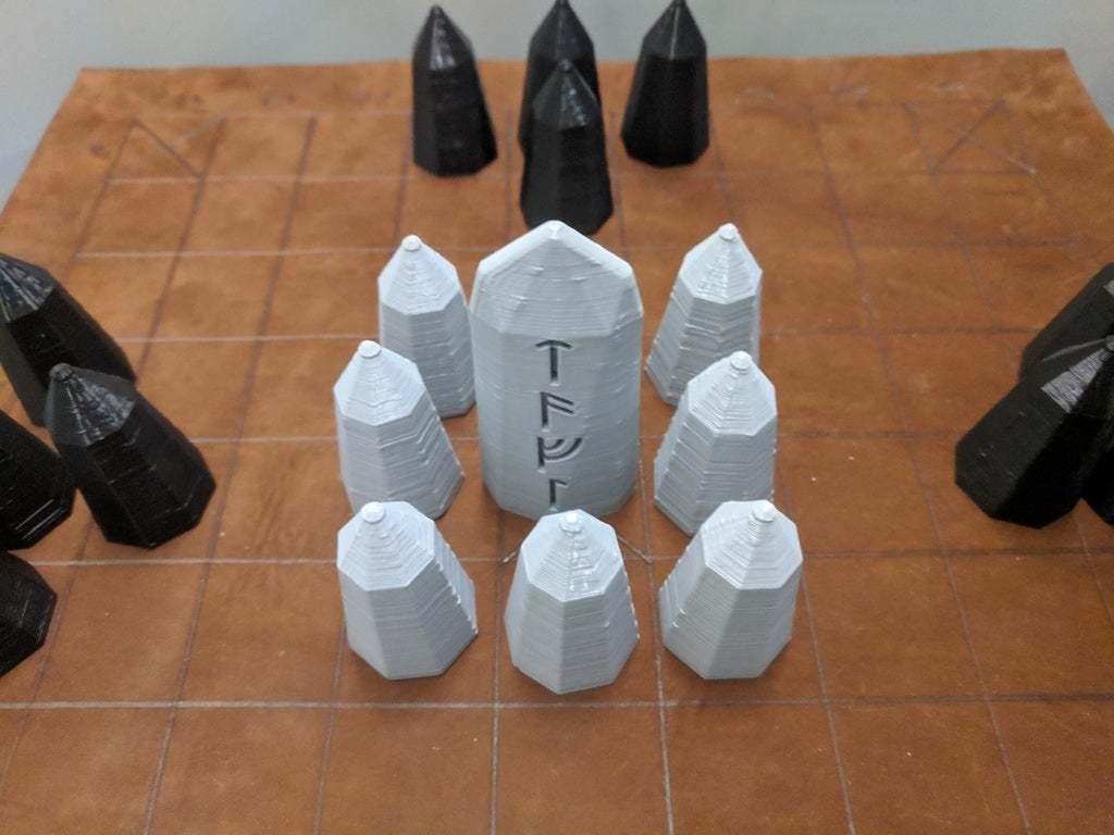 IMG_20190228_182038.jpg Download free SCAD file Hnefatafl Board Game Set • 3D printing design, terraprint