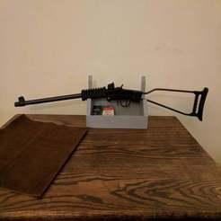 IMG_20191211_215002.jpg Download free SCAD file Wall Mountable Gun/Sword Rack with Shelf • Template to 3D print, terraprint