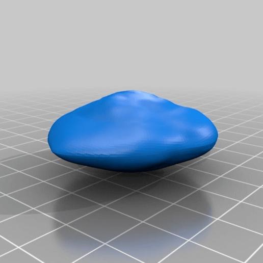Télécharger fichier OBJ gratuit Atlas, Lune de Saturne XV • Objet imprimable en 3D, terraprint
