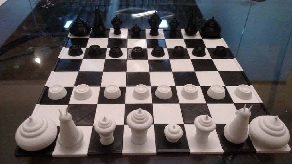 makruk_set2.jpg Download free STL file Makruk Thai Chess Set • 3D printing design, terraprint
