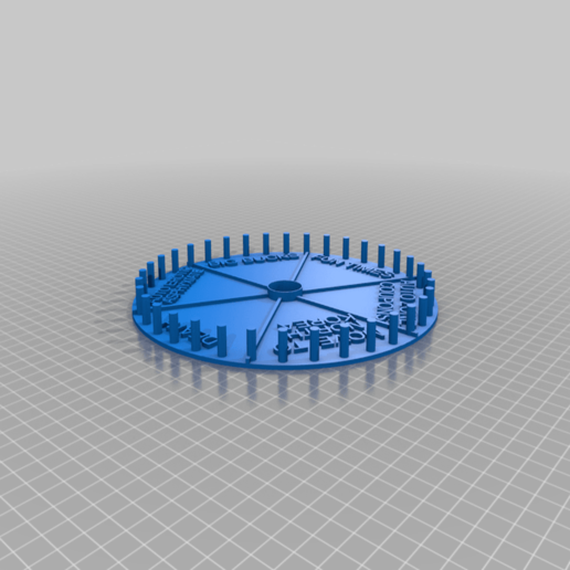 Download free SCAD file Its Time for the Wheel of Prizes!!!! • 3D printer design, terraprint