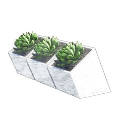 Download 3D printer designs Flowerpot Box_01 / Succulent Pot_01, vanessabarraza56