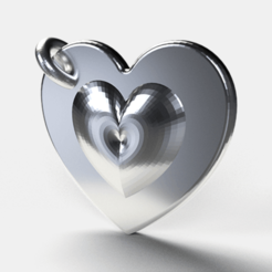 Heart pendant 1 (3).png Télécharger fichier STL Pendentif en forme de coeur • Modèle pour impression 3D, diogorodrigues1990