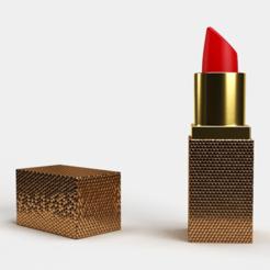 square lipstick  (2).png Télécharger fichier STL Rouge à lèvres carré • Modèle pour impression 3D, diogorodrigues1990