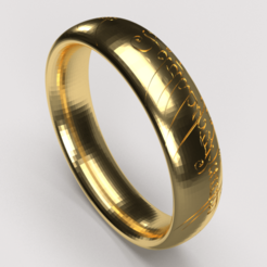 anel do senhor do aneis 5.png Download STL file Lord of the Rings  • 3D printable object, diogorodrigues1990